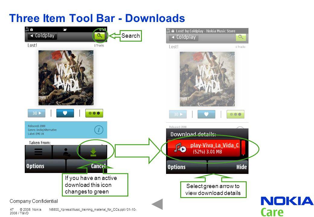 Three Item Tool Bar - Downloads