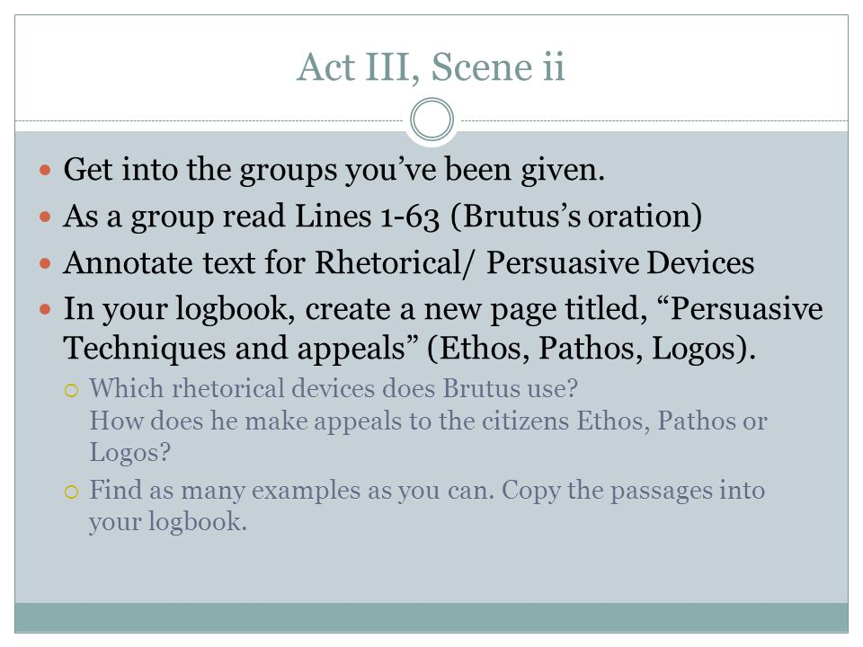 persuasive language act 3 scene 3 A summary of act i, scene iii in william shakespeare's the merchant of venice learn exactly what happened in this chapter, scene, or section of the merchant of venice.