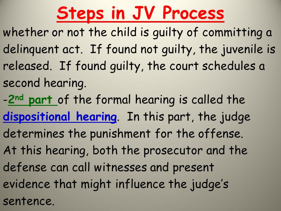 Steps in JV Process