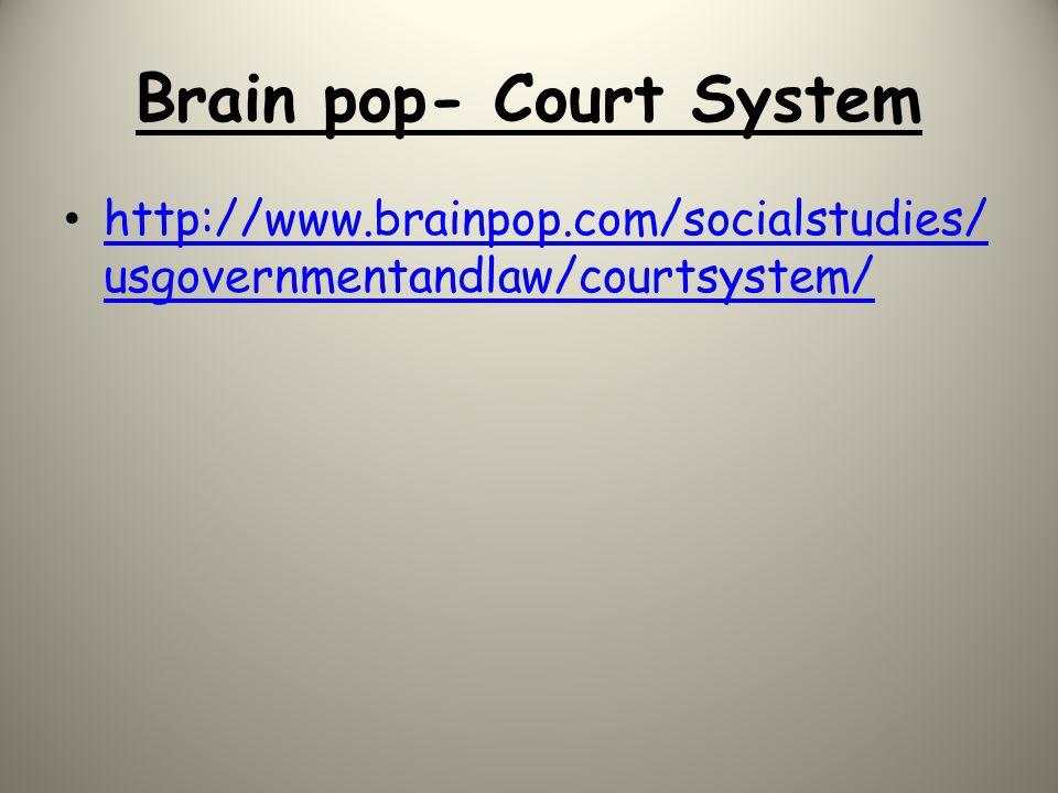 Brain pop- Court System