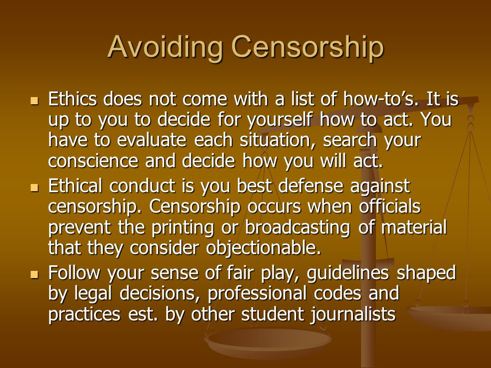 Avoiding Censorship