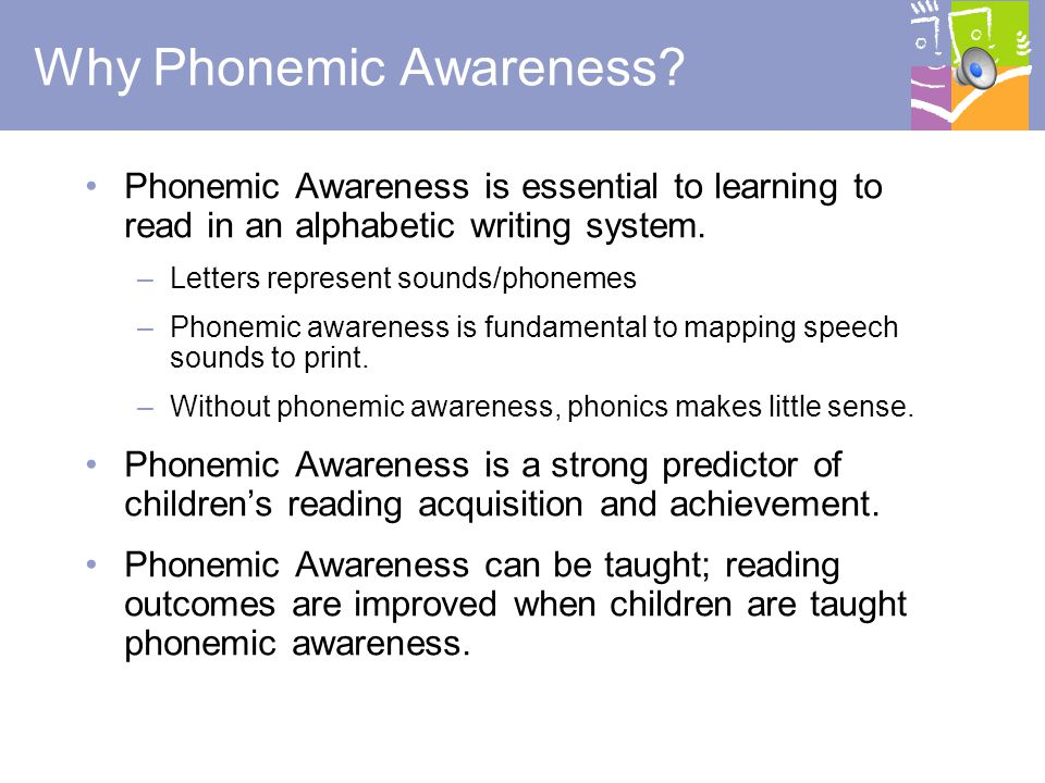 Why Phonemic Awareness