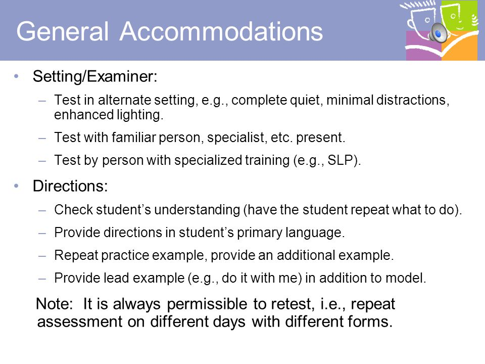 General Accommodations