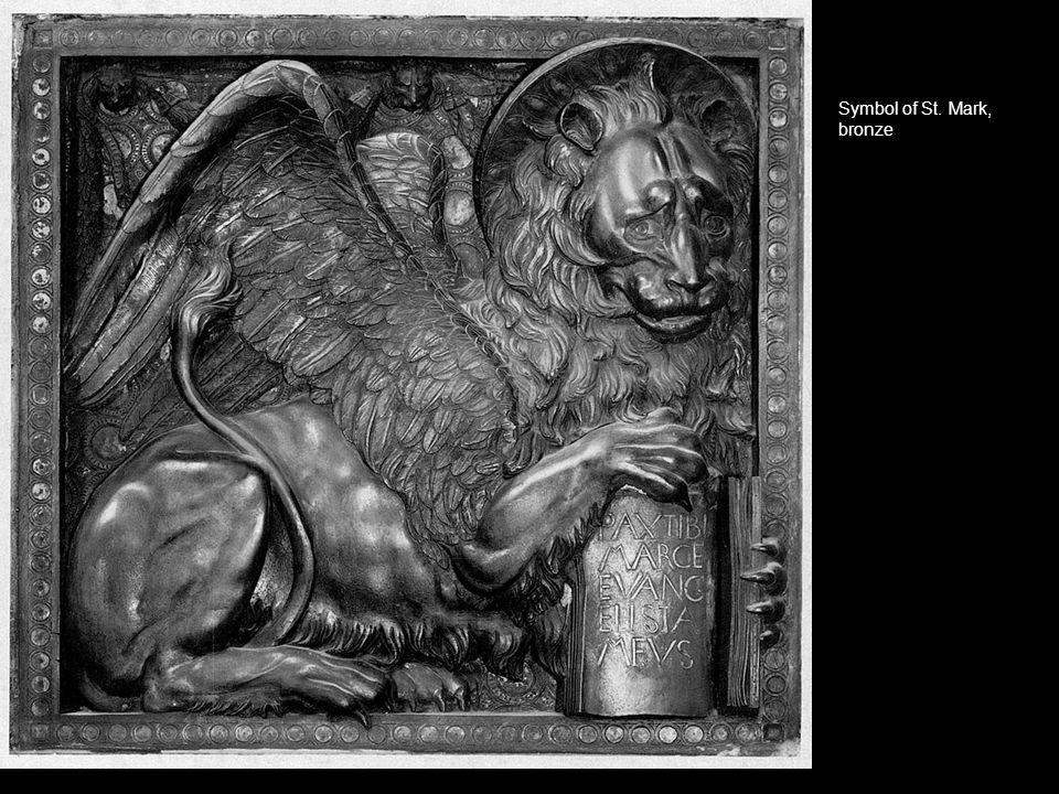 Symbol of St. Mark, bronze m