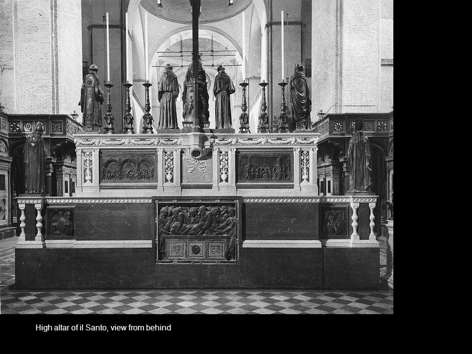 High altar of il Santo, view from behind