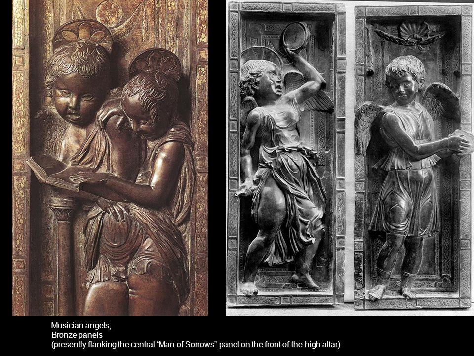 Musician angels, Bronze panels.