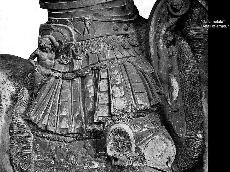 Gattamelata , Detail of armour