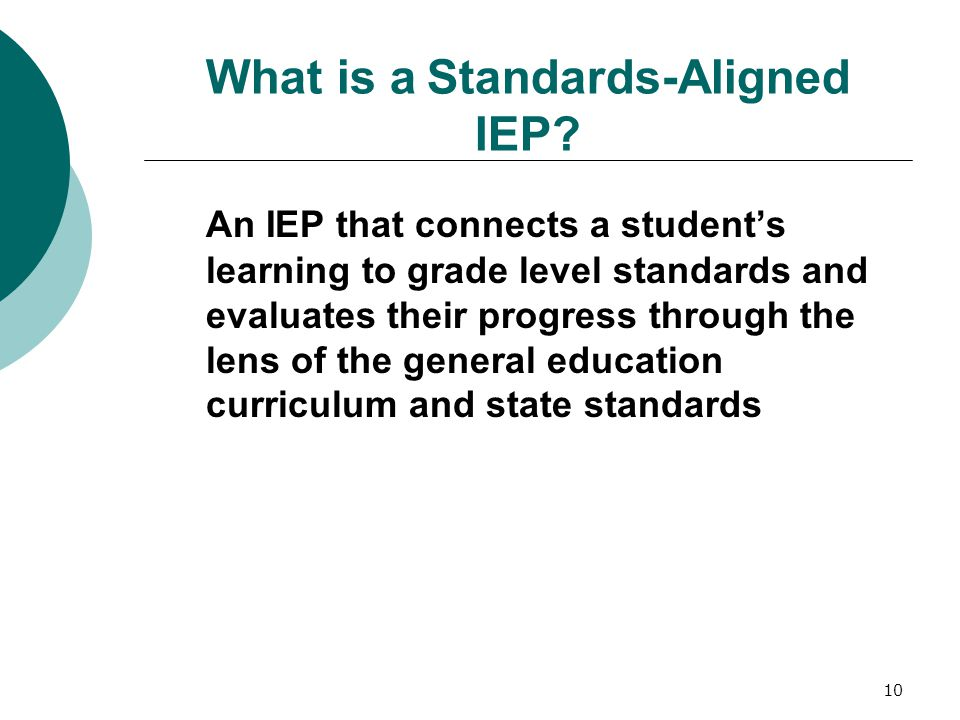 What is a Standards-Aligned IEP