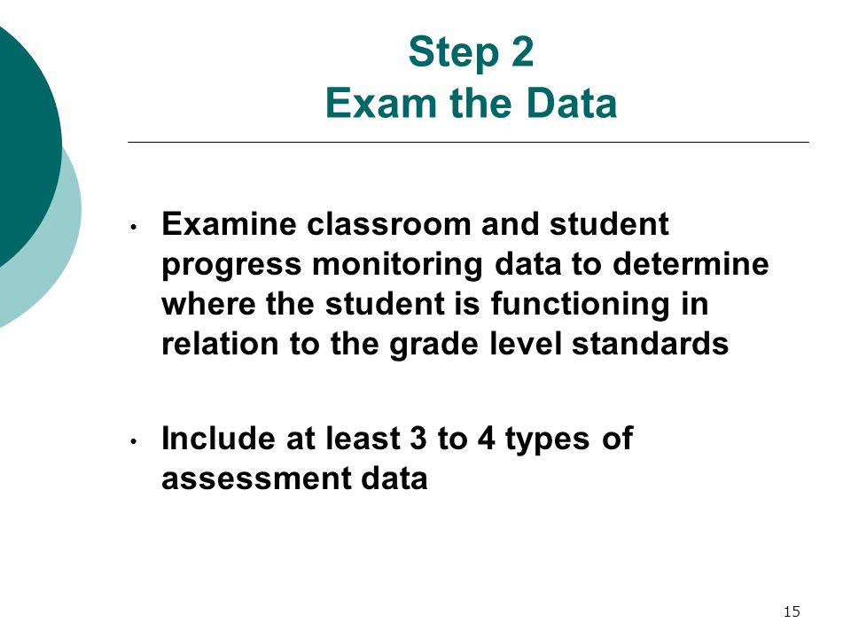 Step 2 Exam the Data