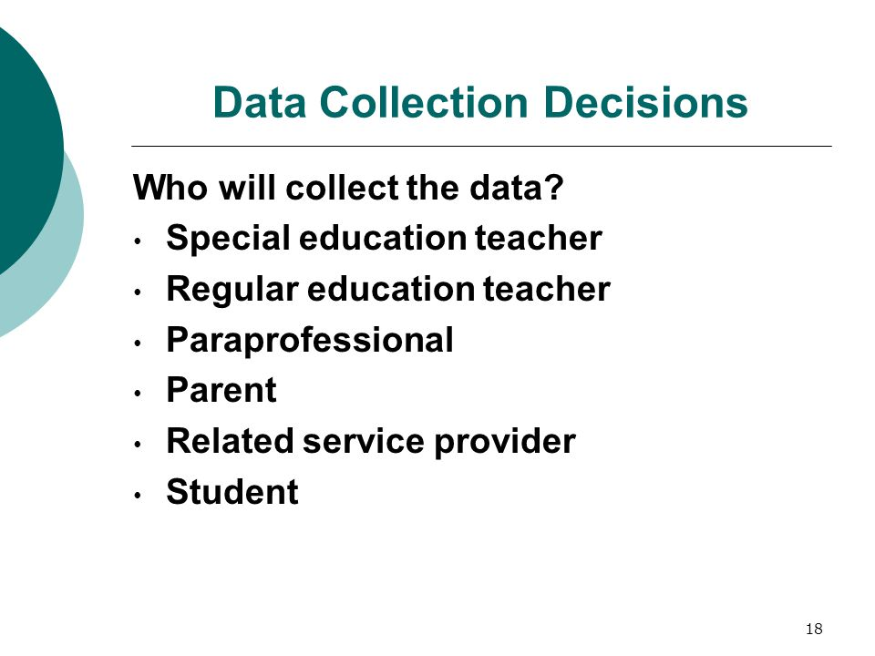 Data Collection Decisions