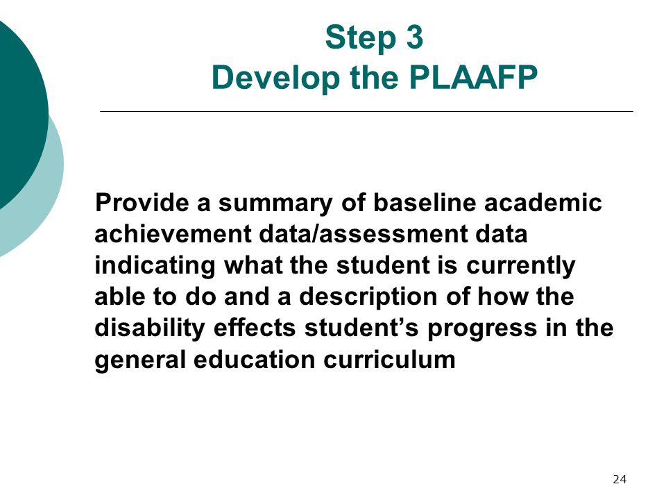 Step 3 Develop the PLAAFP