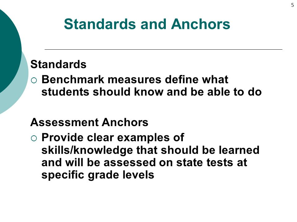 Standards and Anchors Standards