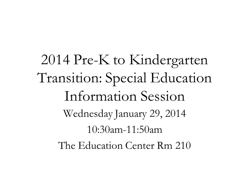 Wednesday January 29, 2014 10:30am-11:50am The Education Center Rm 210