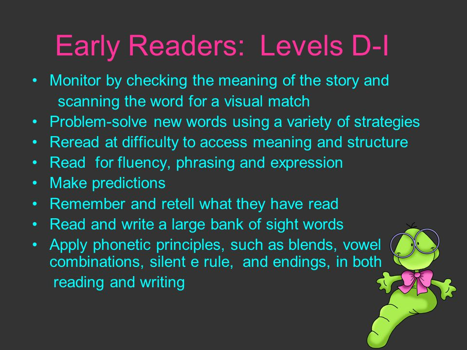 Early Readers: Levels D-I