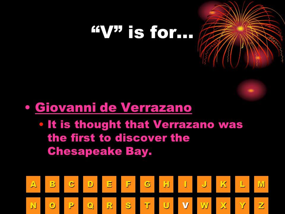 V is for… Giovanni de Verrazano