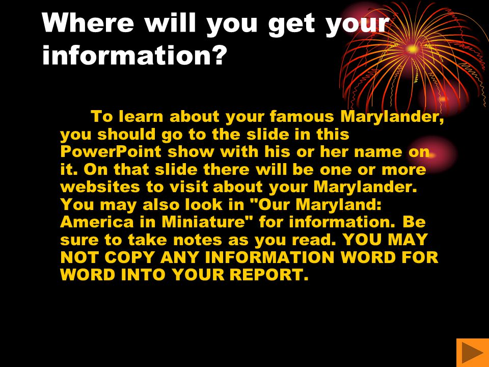 Where will you get your information