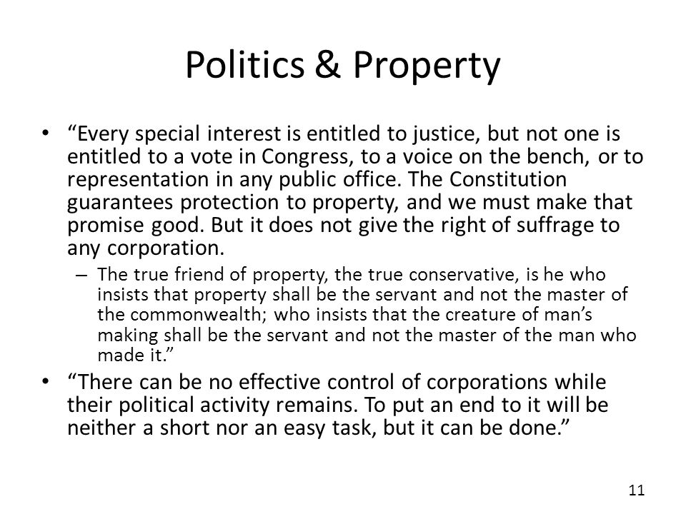 Politics & Property