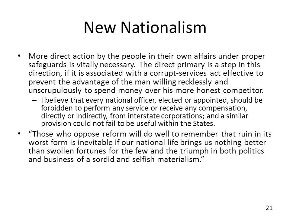 New Nationalism