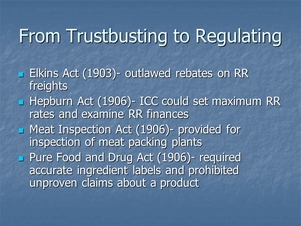 From Trustbusting to Regulating