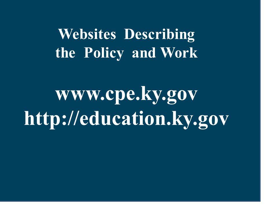 www.cpe.ky.gov http://education.ky.gov
