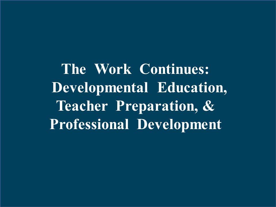 Developmental Education, Professional Development