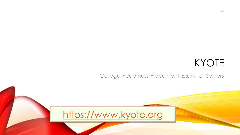 KYOTE https://www.kyote.org