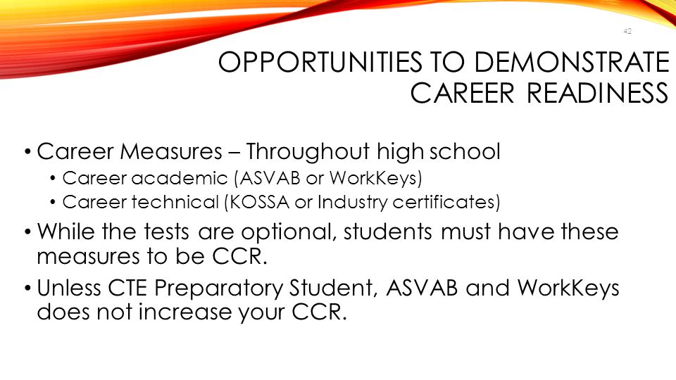 Opportunities to Demonstrate Career Readiness