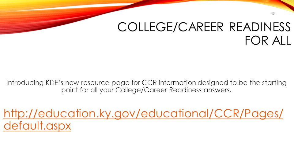 College/Career Readiness for All