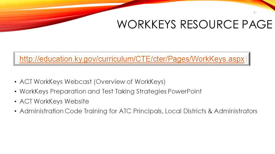 WorkKeys Resource Page