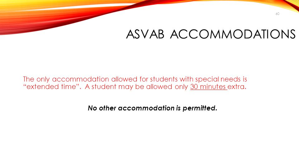 ASVAB Accommodations