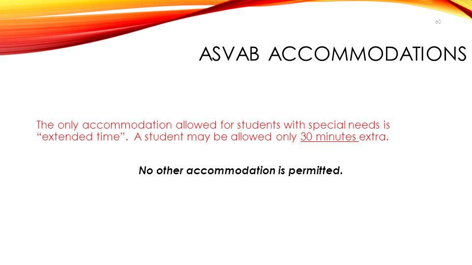 ASVAB Accommodations