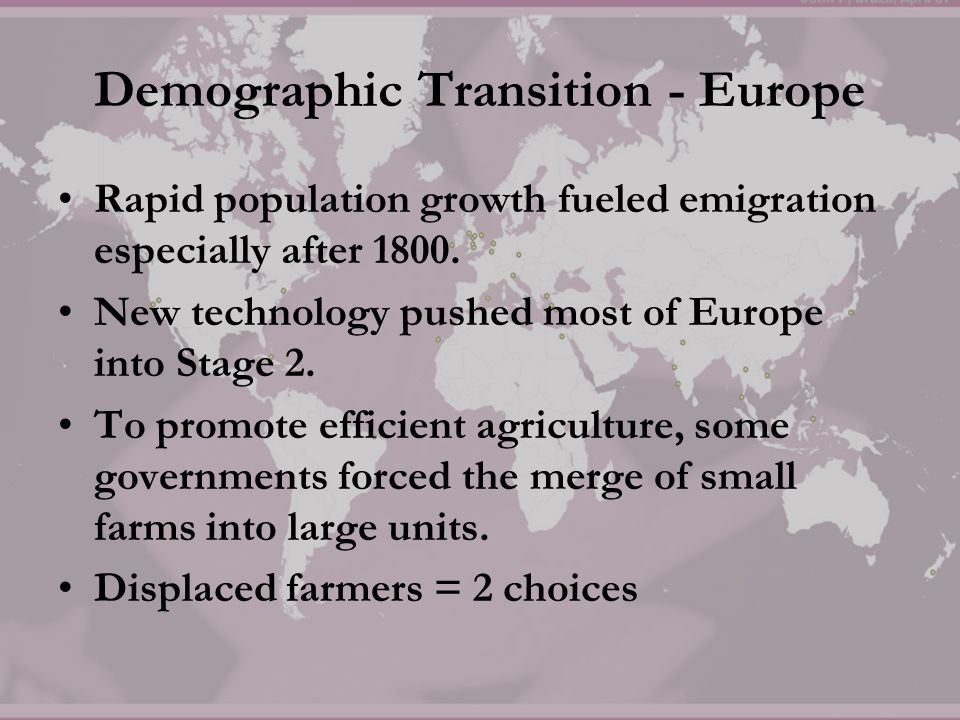 Demographic Transition - Europe