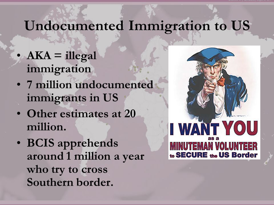 Undocumented Immigration to US