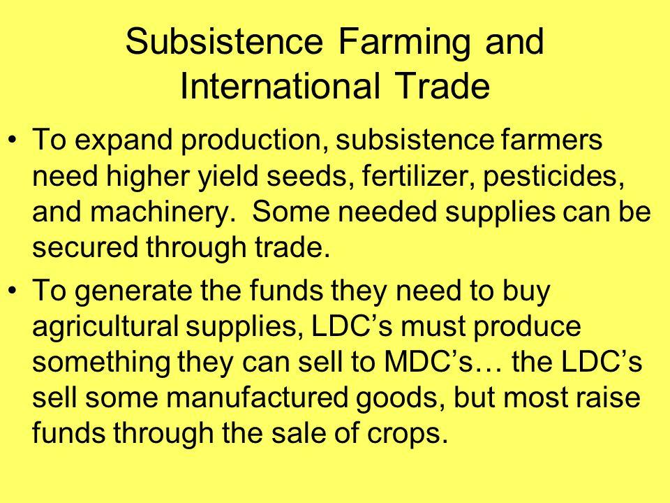 Subsistence Farming and International Trade