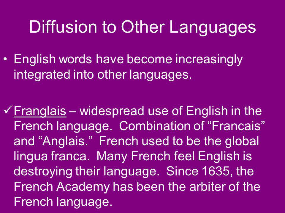 Diffusion to Other Languages