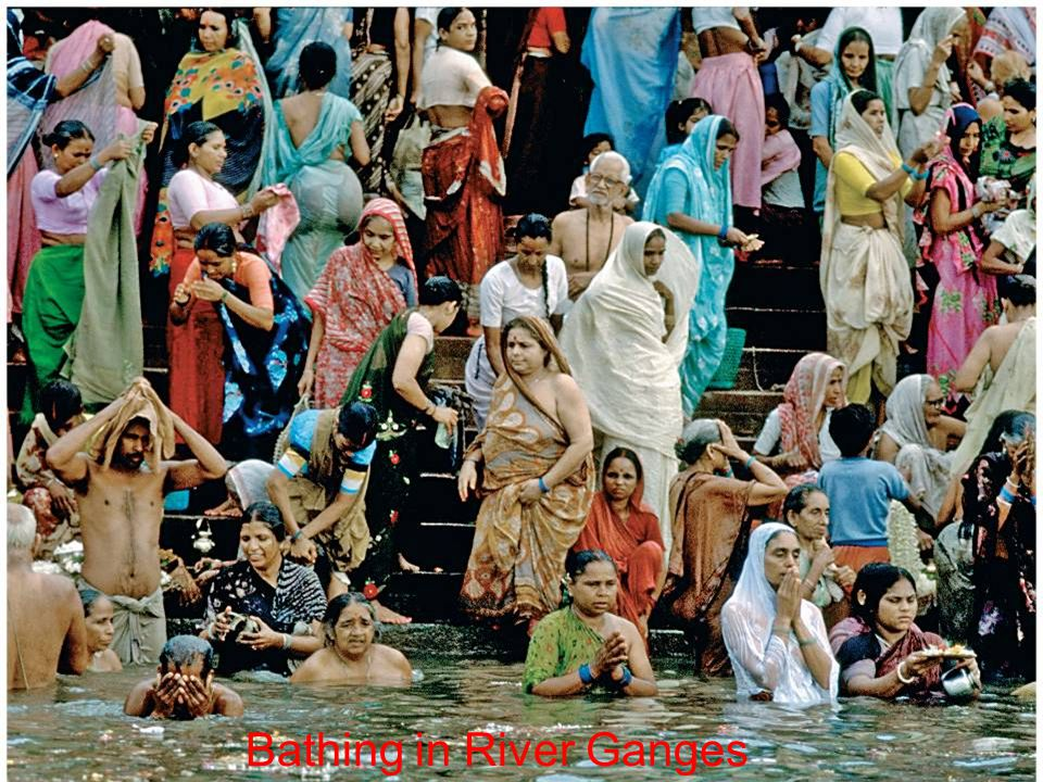 Bathing in River Ganges