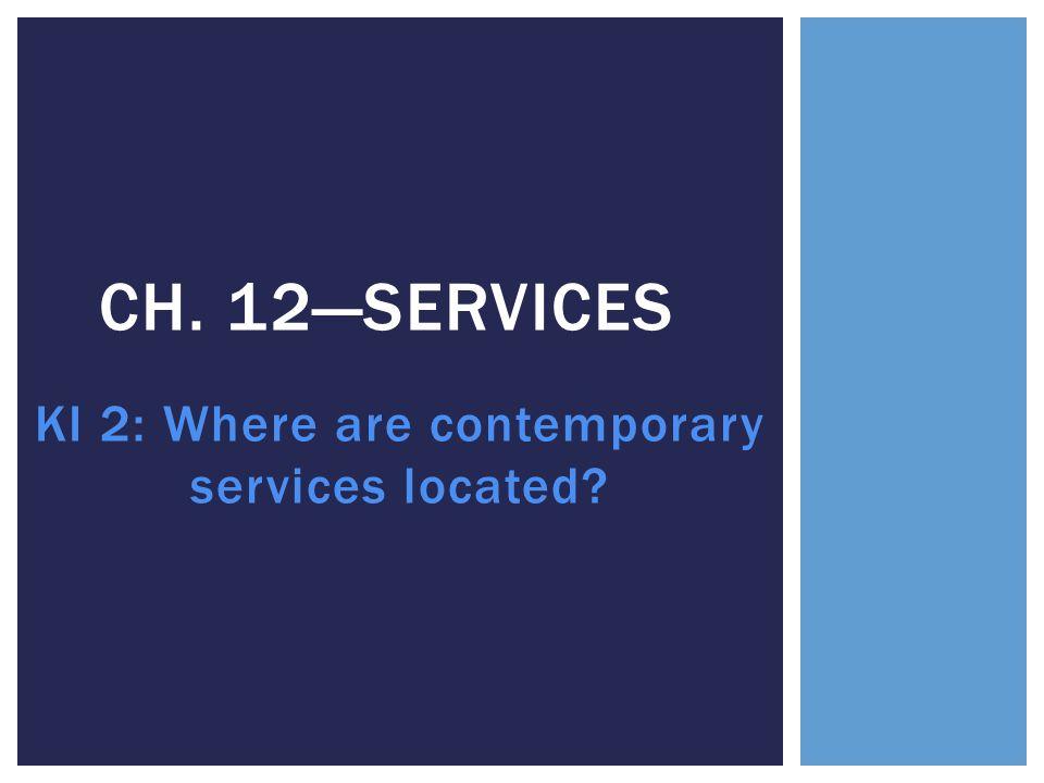 KI 2: Where are contemporary services located