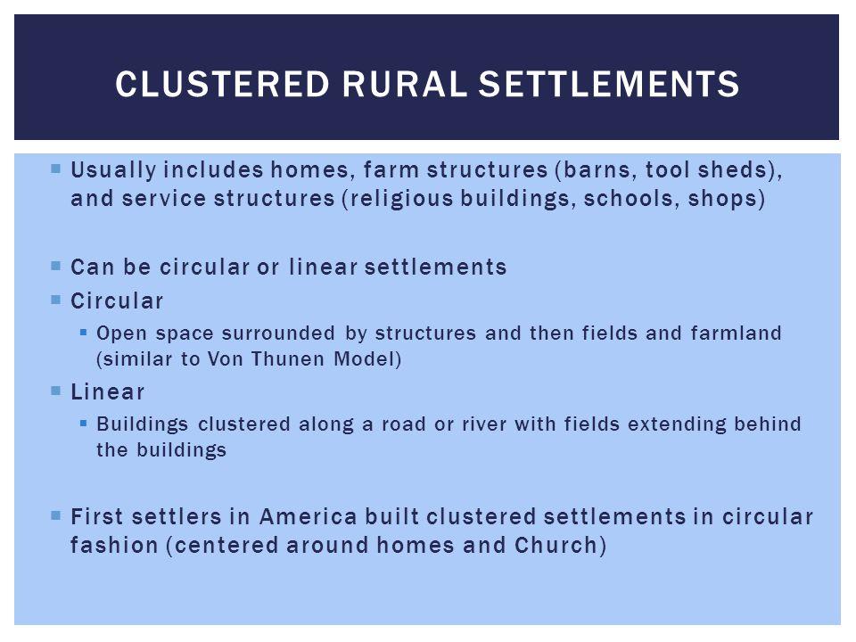 Clustered Rural Settlements