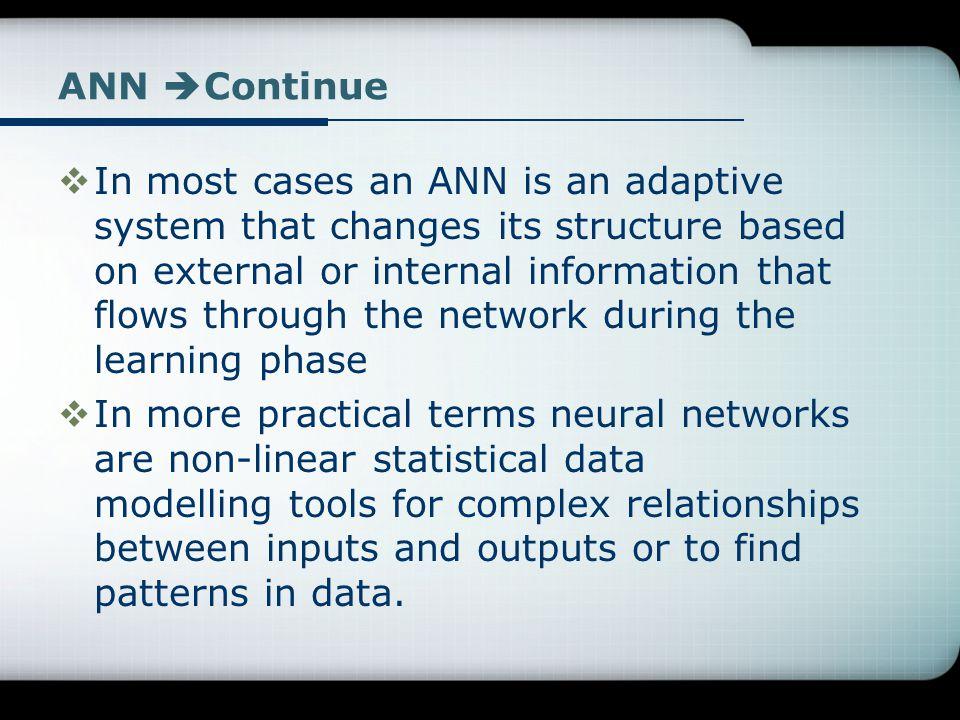 ANN Continue