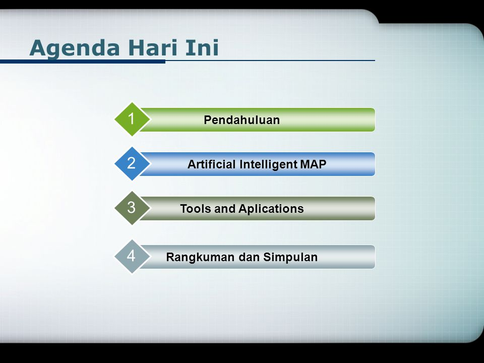 Artificial Intelligent MAP Rangkuman dan Simpulan
