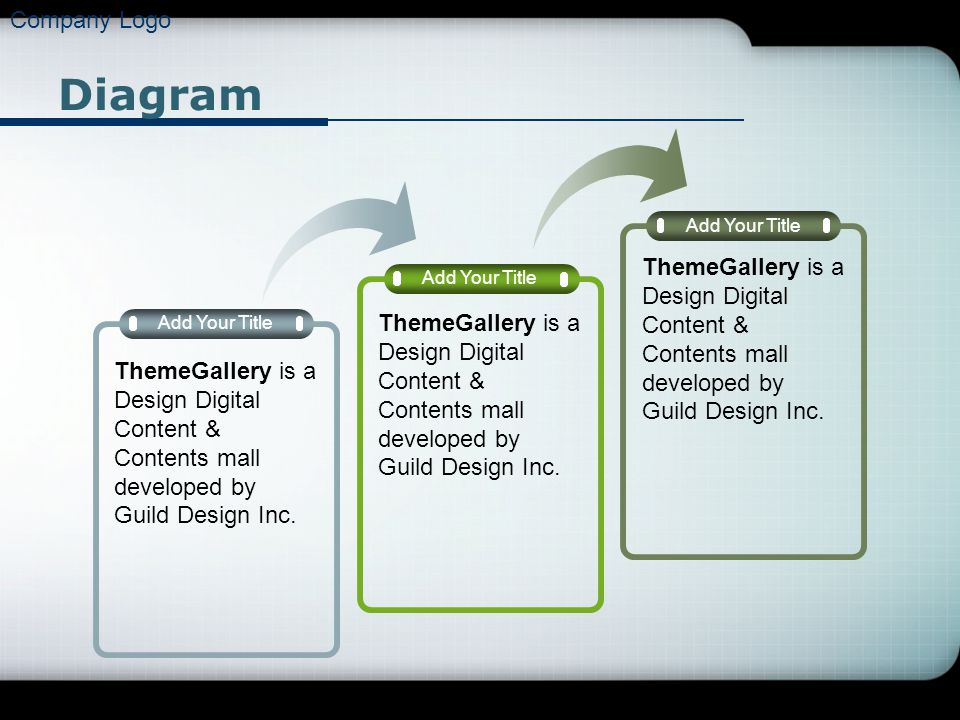 Company Logo Diagram. Add Your Title. ThemeGallery is a Design Digital Content & Contents mall developed by Guild Design Inc.