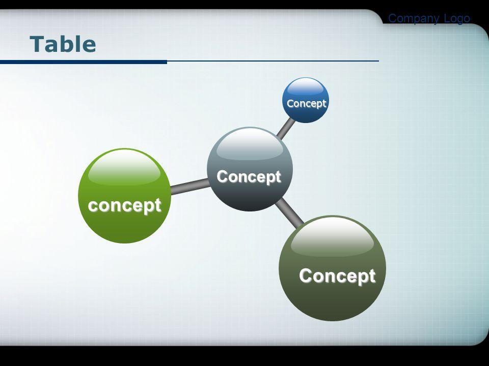 Company Logo Table Concept concept