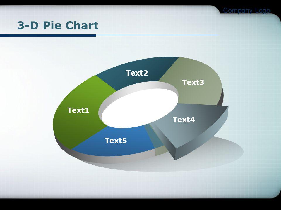 Company Logo 3-D Pie Chart Text1 Text2 Text3 Text4 Text5