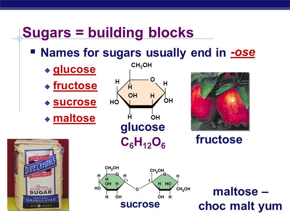 Sugars = building blocks