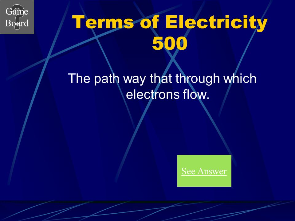 The path way that through which electrons flow.