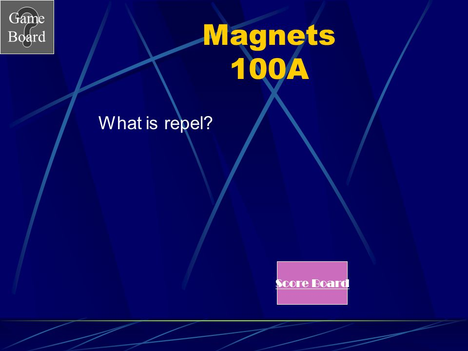 Magnets 100A What is repel Score Board