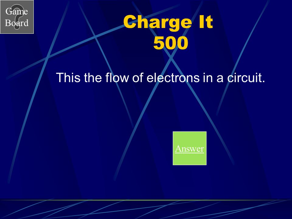 This the flow of electrons in a circuit.