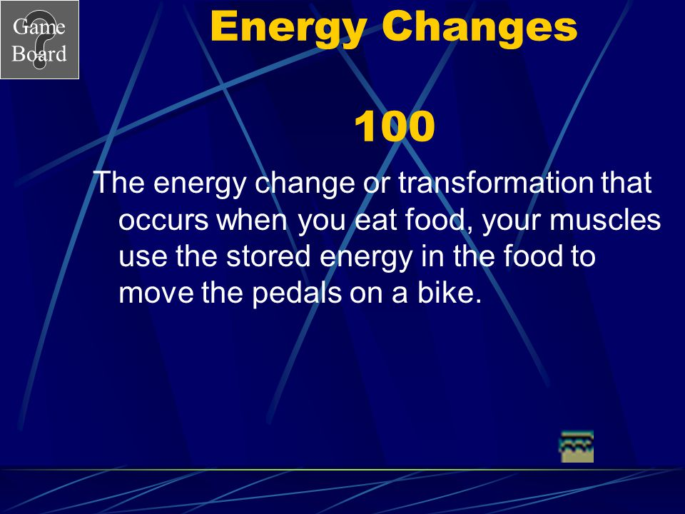 Energy Changes 100