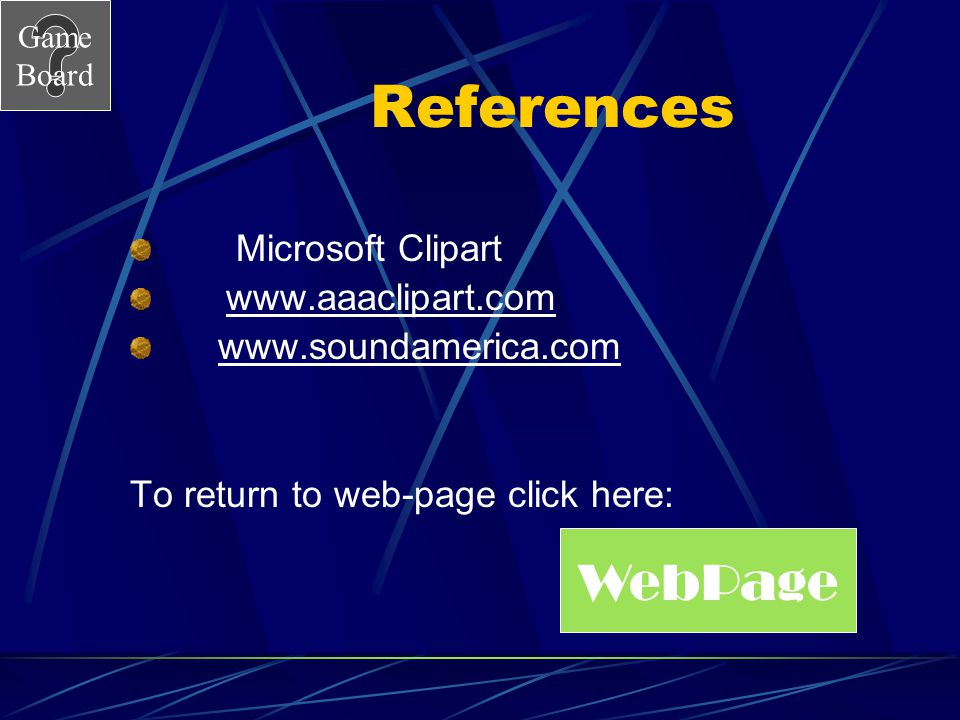 References WebPage Microsoft Clipart www.aaaclipart.com