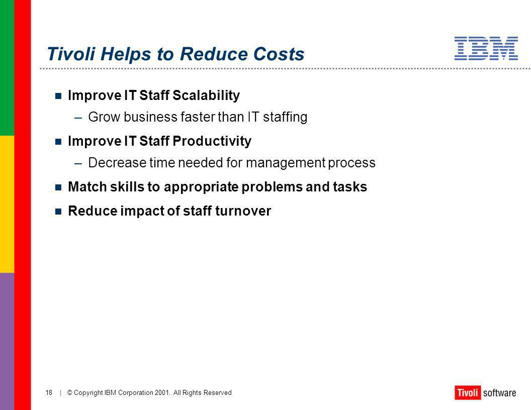 Tivoli Helps to Reduce Costs